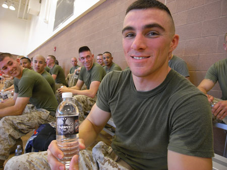 marines fighters water bottle