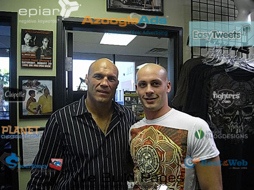 Dave Dellanave meeting Randy the day before the fight.